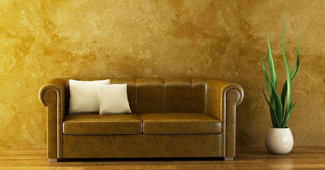 Estuco veneciano barcelona pintores - Pintura dorada para paredes ...